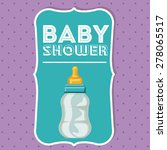 baby shower design over purple...   Shutterstock .eps vector #278065517