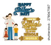 fathers day design over white... | Shutterstock .eps vector #278067587