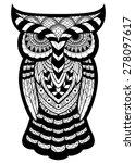 owl tattoo | Shutterstock .eps vector #278097617