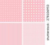 pink vector set of 4 background ... | Shutterstock .eps vector #278106953