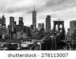 Traffic On Brooklyn Bridge And...