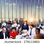 business team discussion... | Shutterstock . vector #278113883