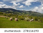 traditional village at the foot ... | Shutterstock . vector #278116193