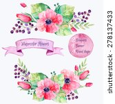 Vector Flowers Set.colorful...