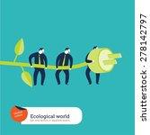 businesspeople using green...   Shutterstock .eps vector #278142797