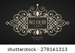 vector frame in mono line style.... | Shutterstock .eps vector #278161313