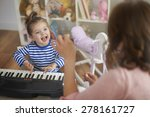 singing and playing on musical... | Shutterstock . vector #278161727