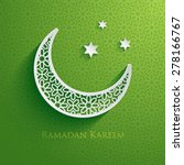 ramadan greetings  | Shutterstock .eps vector #278166767