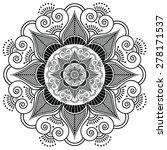 indian henna tattoo inspired ... | Shutterstock . vector #278171537