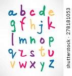 alphabet. english  color... | Shutterstock .eps vector #278181053