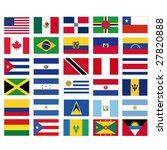 set of all american flags | Shutterstock . vector #27820888
