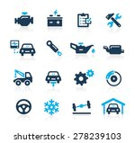 car service icons    azure... | Shutterstock .eps vector #278239103