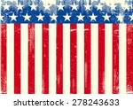 horizontal american grunge flag.... | Shutterstock .eps vector #278243633