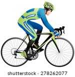 bicycle racer 3 realistic... | Shutterstock .eps vector #278262077