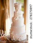 beautiful white wedding cake | Shutterstock . vector #278270897