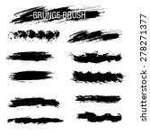 vector set of grunge brush... | Shutterstock .eps vector #278271377