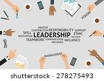 vector leadership concept... | Shutterstock .eps vector #278275493