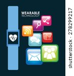 wearable technology design ... | Shutterstock .eps vector #278299217