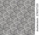 stripe cube pattern | Shutterstock .eps vector #278327123