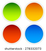colorful circle shape set with...   Shutterstock .eps vector #278332073