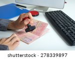 immigration control officer... | Shutterstock . vector #278339897