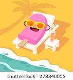 illustration of ice cream stick ... | Shutterstock .eps vector #278340053