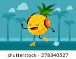illustration of pineapple on... | Shutterstock .eps vector #278340527
