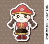 pirate theme elements | Shutterstock .eps vector #278341283
