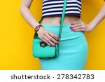fashionable young woman with...   Shutterstock . vector #278342783