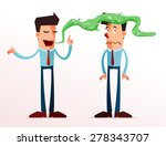 young businessman get annoyed... | Shutterstock .eps vector #278343707