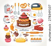 cooking bakery objects... | Shutterstock .eps vector #278349107