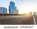 empty floor and modern building ...   Shutterstock . vector #278349197
