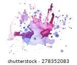 abstract watercolor aquarelle... | Shutterstock . vector #278352083