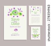 vector set of invitation cards... | Shutterstock .eps vector #278354963