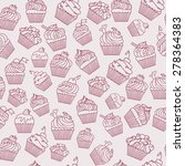 pattern with cupcakes. hand... | Shutterstock .eps vector #278364383