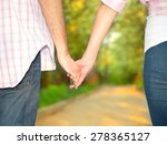 Clasping Hand Lover. Men And...
