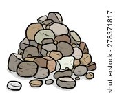Stack Of Rocks   Cartoon Vecto...