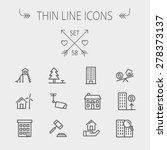 real estate thin line icon set... | Shutterstock .eps vector #278373137