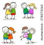 cute couples | Shutterstock .eps vector #278373263