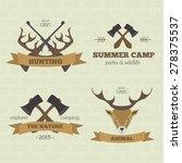 set of vintage outdoor camp... | Shutterstock .eps vector #278375537