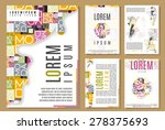 set of flyer  brochure  cover...