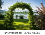Woven Plants Forming An Arch I...