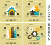 architecture infographics. four ... | Shutterstock .eps vector #278397707