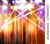 banner neon light stage... | Shutterstock .eps vector #278404457