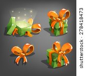 set of gift boxes. vector...