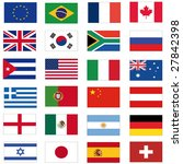 set of most important flags | Shutterstock . vector #27842398