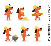 set of funny worker dog | Shutterstock .eps vector #278444897