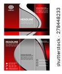 tri fold corporate brochure... | Shutterstock .eps vector #278448233