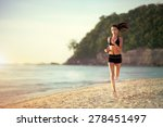 running woman  female runner... | Shutterstock . vector #278451497