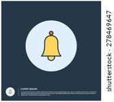 yellow bell icon  vector...